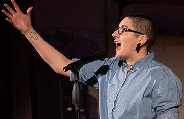 Australian Slam Poetry Event - image of performer